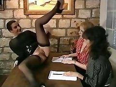 French, Lesbian, Threesome, Vintage