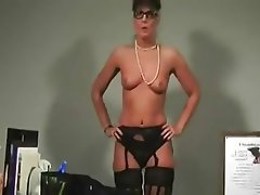 Lingerie, Masturbation, Mature, MILF, Old and Young