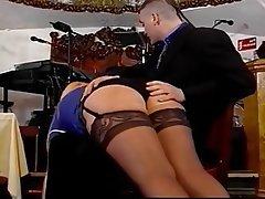 British, Spanking, Stockings