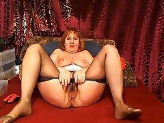 Granny, Orgasm, Webcam