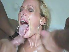 Amateur, Big Boobs, Cum in mouth, Mature, Threesome