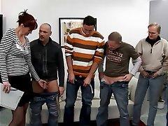 Blowjob, Facial, Gangbang, Group Sex