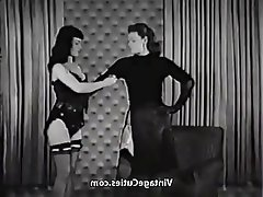 Vintage, MILF, Spanking, Bondage