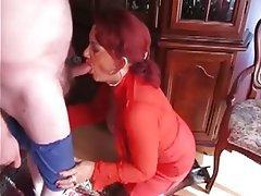 Blowjob, Mature, Redhead