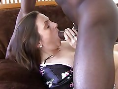 Blowjob, Brunette, Interracial, Mature