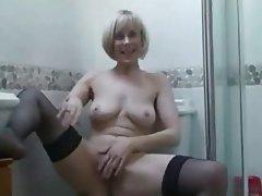 Masturbation, Mature, MILF, POV, Stockings