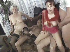 Amateur, Granny, Group Sex, Mature